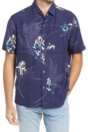 Tori Richard Men's Lyrical Short Sleeve Silk Blend Button-Up Shirt