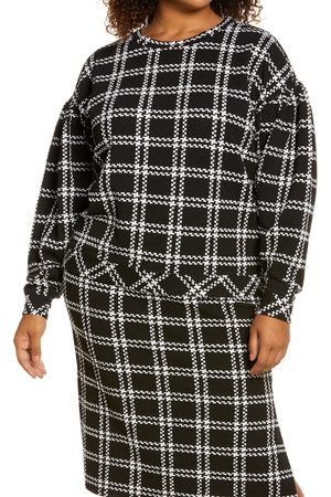 Halogen Women Hoodies - Plus Size Women's Halogen Pattern Detail Sweatshirt