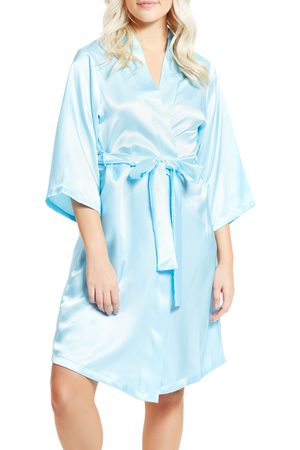 MansiCollections Women's Long Sleeve Satin Robe