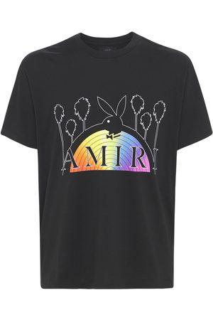 AMIRI Playboy Rainbow Cotton Jersey T-shirt