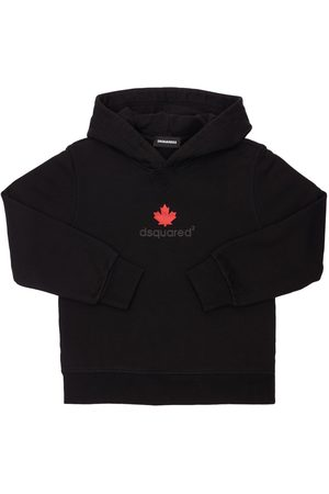 Dsquared2 Rubberized Logo Cotton Sweatshirt Hoodie