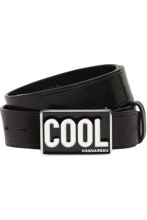 DSQUARED2 3.5cm Cool Plaque Leather Belt