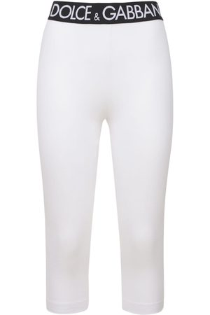 Dolce & Gabbana Mid-length Tech Cotton Jersey Leggings