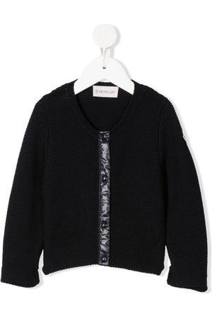 Moncler Cardigans - Purl-knit contrast-trim cardigan