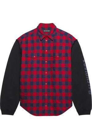Balenciaga Patched sleeve shirt - 8521 /INDIGO