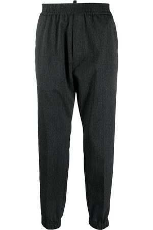 Dsquared2 Men Pants - Elasticated-waist wool tapered trousers