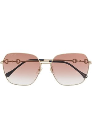 Gucci Horsebit square-frame sunglasses