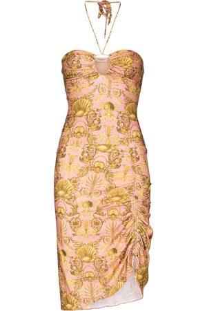 Adriana Degreas Women Printed Dresses - Seashell-print halterneck minidress