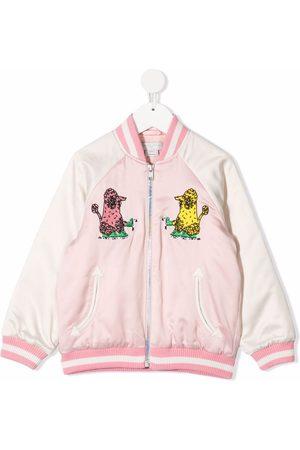 Stella McCartney Poodle embroidered bomber jacket