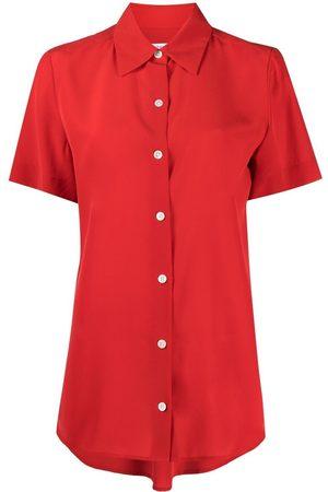 Equipment Short-sleeved silk shirt