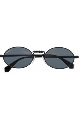 OFF-WHITE The Cape oval-frame sunglasses - Grey