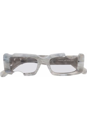 OFF-WHITE Sunglasses - Cady rectangle-frame sunglasses - Grey