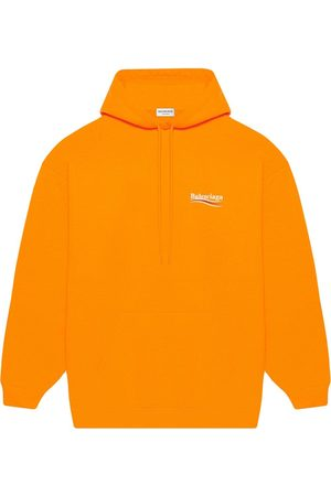 Balenciaga Hoodies - Logo-print hoodie - 7073 FLUO O/ /