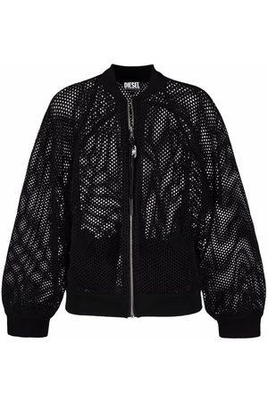 Diesel Open-knit bomber jacket