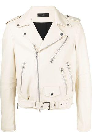 AMIRI Leather biker jacket - Neutrals