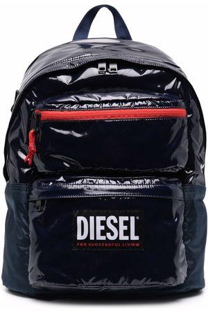 Diesel High-shine logo backpack