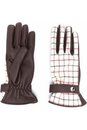Maison Margiela Women Gloves - Tattersall-check panelled gloves