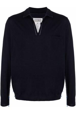 Maison Margiela Long-sleeved knitted polo shirt