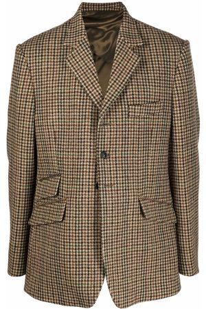 Maison Margiela Reversible houndstooth-pattern blazer - Neutrals