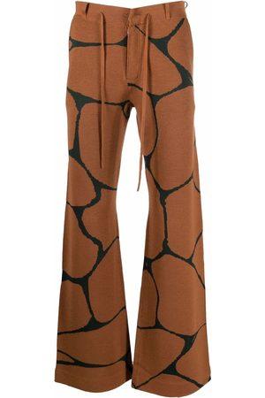 Karl Lagerfeld Wide Leg Pants - X Kenneth Ize knit trousers