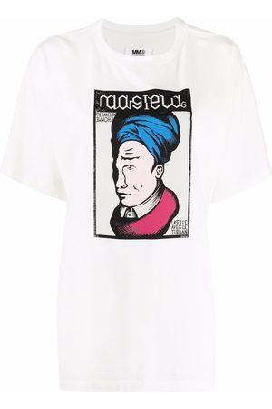 MM6 Maison Margiela Women Short Sleeve - Graphic-print short-sleeved T-shirt