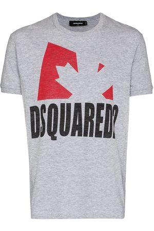 Dsquared2 Leaf print short-sleeve T-shirt - Grey