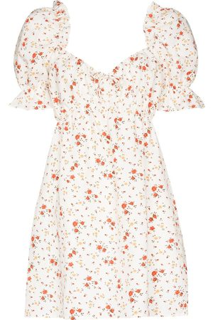 Reformation Women Printed Dresses - Channa floral print sweetheart dress