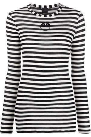 Pinko Women Long Sleeve - Striped long-sleeve T-shirt