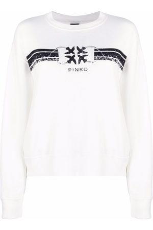 Pinko Logo-print cotton-blend sweatshirt