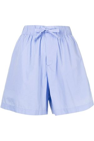 TEKLA Wide-leg poplin pyjama shorts