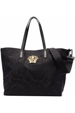 VERSACE Jacquard leather-trim changing bag