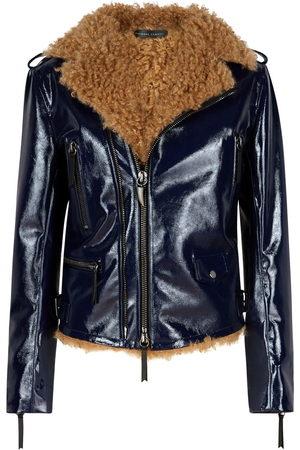 Giuseppe Zanotti Women Leather Jackets - Amelia high-shine jacket