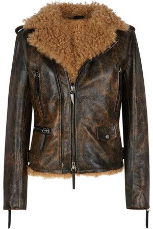 Giuseppe Zanotti Amelia shearling-lined jacket