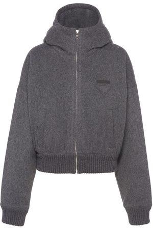 Prada Women Jackets - Jersey blouson jacket - Grey