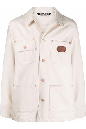 Palm Angels X Missoni Melting Logo denim chore jacket - Neutrals
