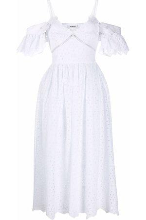 VIVETTA Cold-shoulder midi dress
