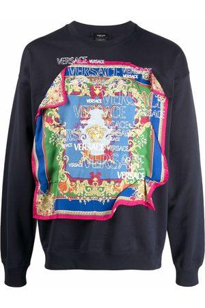 Versace Men Long sleeves - Scarf-detail long-sleeve sweatshirt