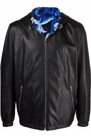 VERSACE Nappa leather reversible jacket