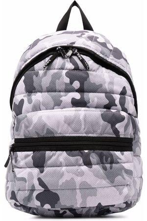 MONNALISA Camouflage-print puffer backpack - Grey