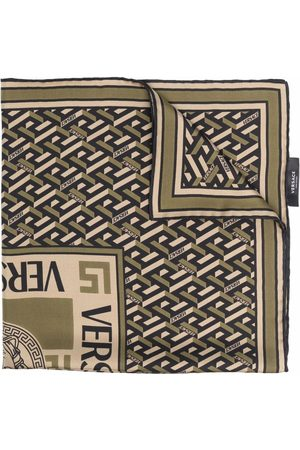 VERSACE Geometric-print silk scarf