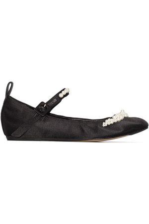 Simone Rocha Satin ballerina shoes