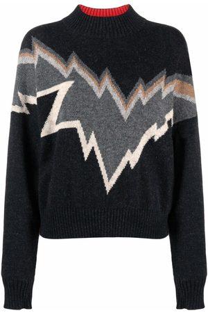 Zadig & Voltaire Women Sweaters - Bonnie intarsia-knit jumper - Grey