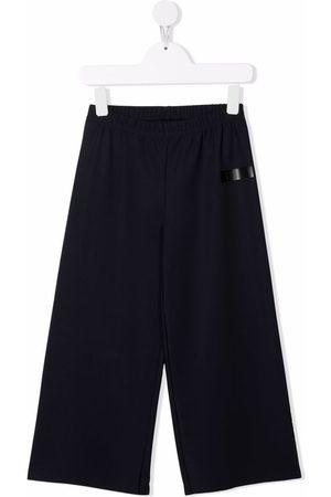 Il Gufo Logo-print wide-leg trousers