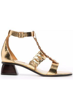 Sandro Paris Thalila metallic-strap sandals