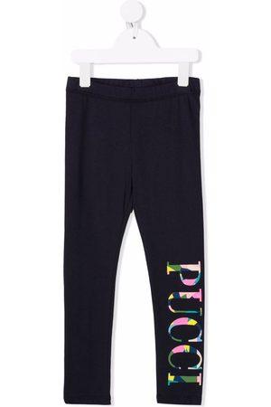 Emilio Pucci Junior Abstract logo-print leggings