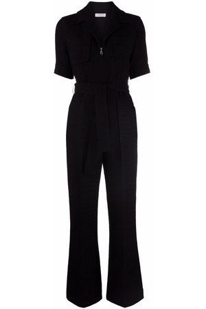 Sandro Women Jumpsuits - Zip-up short-sleeved jumpsuit