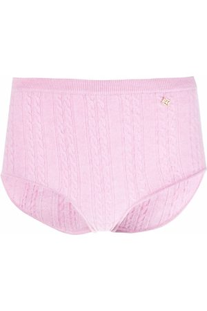 Sandro Paris Cable-knit high-rise knitted shorts