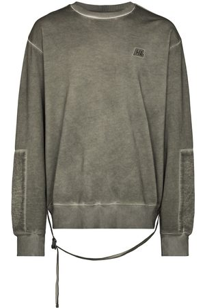 Helmut Lang Men Sweatshirts - Washed military crewneck sweatshirt