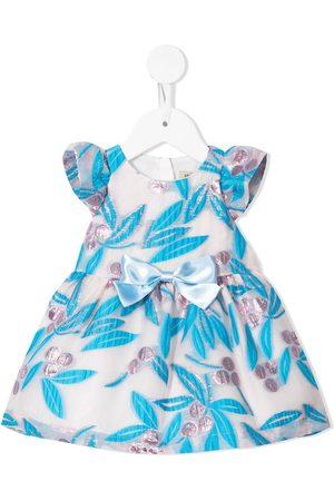 Hucklebones London Jacquard bow-detail dress