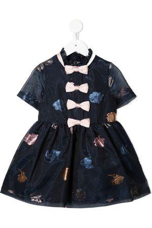 Hucklebones London Girls Dresses - Multi-bow organza mini dress